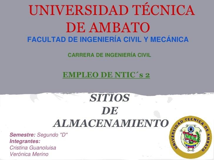 UNIVERSIDAD TÉCNICA          DE AMBATO      FACULTAD DE INGENIERÍA CIVIL Y MECÁNICA                        CARRERA DE INGE...