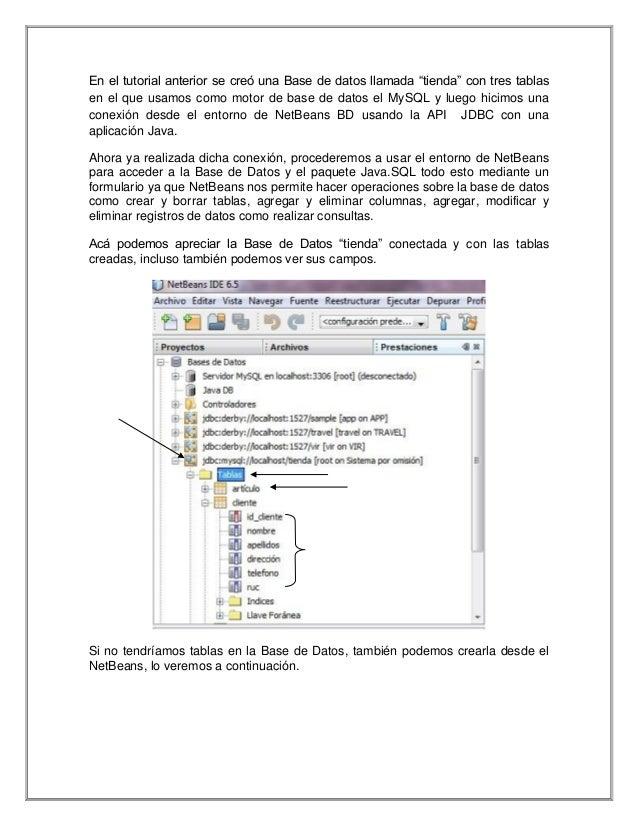 """En el tutorial anterior se creó una Base de datos llamada """"tienda"""" con tres tablas en el que usamos como motor de base de ..."""