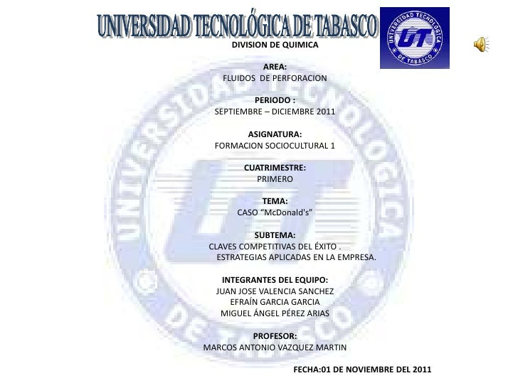 DIVISION DE QUIMICA             AREA:    FLUIDOS DE PERFORACION          PERIODO :  SEPTIEMBRE – DICIEMBRE 2011        ASI...