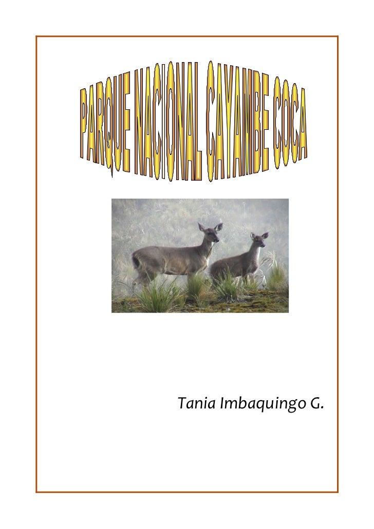 Tania Imbaquingo G.