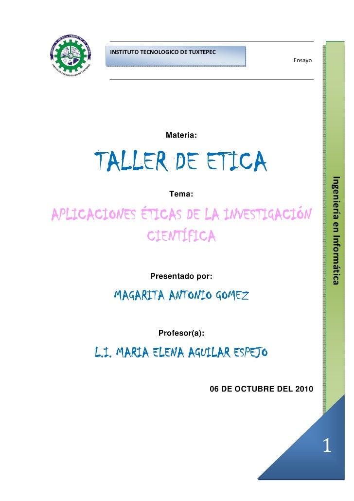 INSTITUTO TECNOLOGICO DE TUXTEPEC                                                         Ensayo                          ...