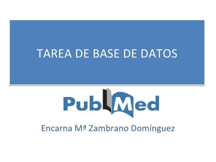 TAREA DE BASE DE DATOS Encarna Mª Zambrano Domínguez