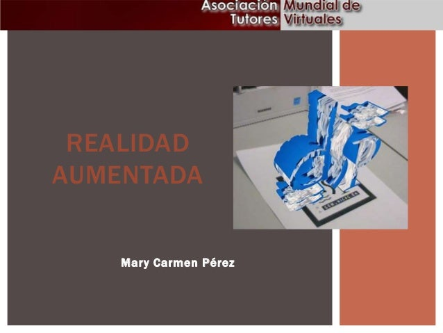 REALIDAD AUMENTADA  Mar y Carmen Pérez