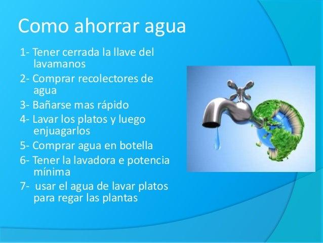 Como ahorrar agua energ a y disminuir los residuos for Metodos para ahorrar agua