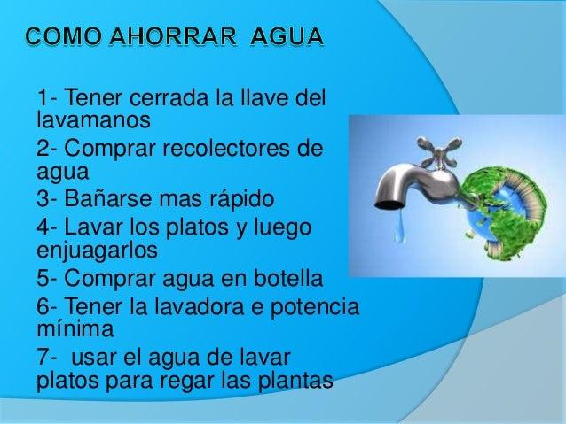 Maneras de ahorrar agua energ a y como disminuir los residuos - Como ahorrar agua y luz ...