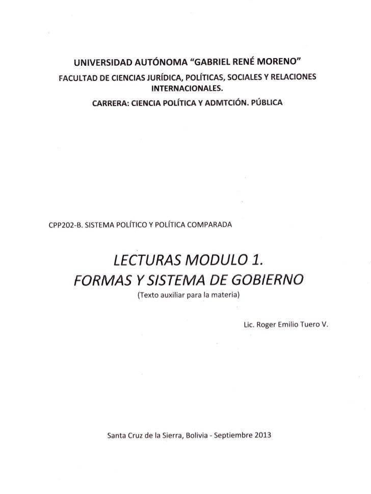 FORMAS T SISTEMA DE GOBIERNO