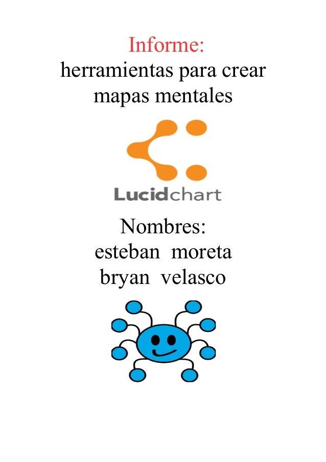 Informe: herramientas para crear mapas mentales Nombres: esteban moreta bryan velasco