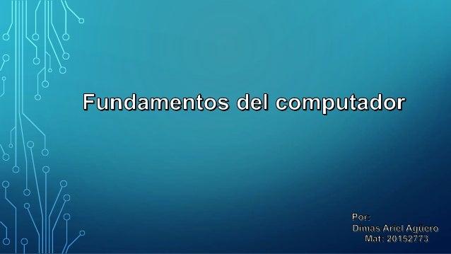 QUE ES LA COMPUTADORA? • Una computadora es un sistema digital con tecnología microelectrónica capaz de procesar datos a p...