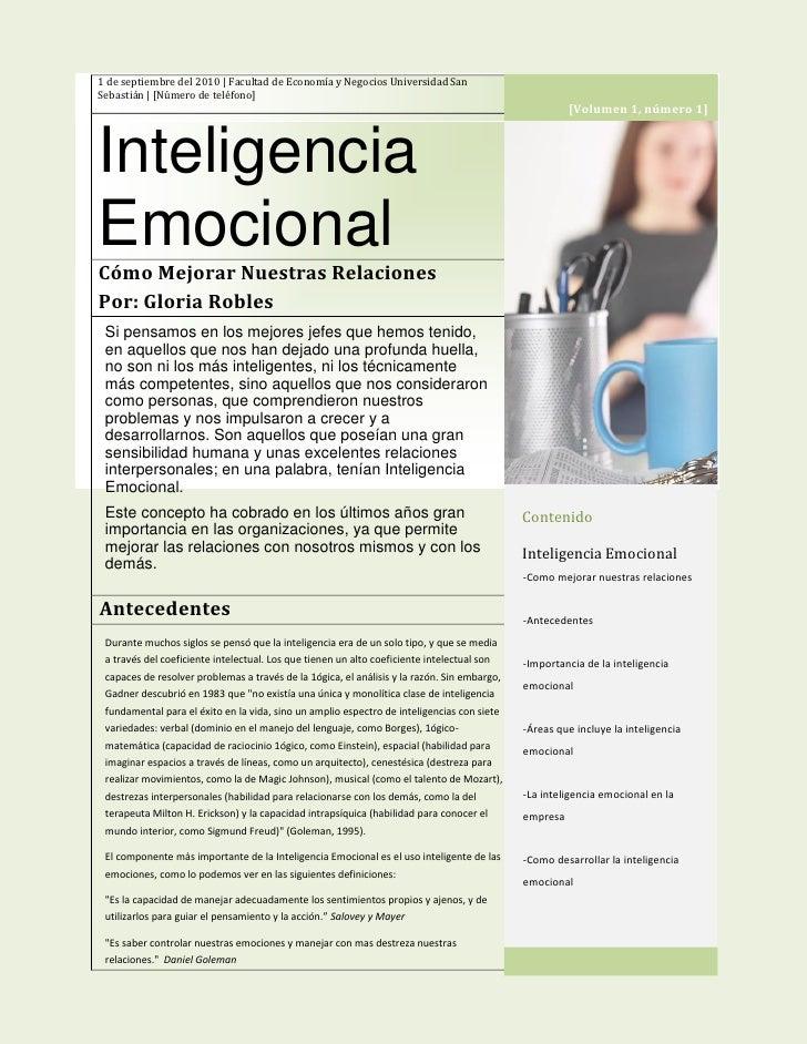 1 de septiembre del 2010 | Facultad de Economía y Negocios Universidad San Sebastián | [Número de teléfono]               ...