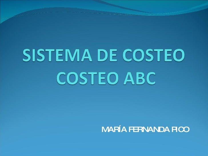 SISTEMA DE COSTEO