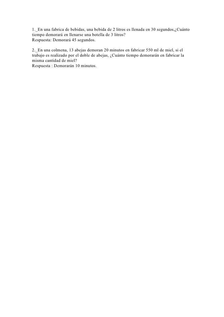Ejercicios razones y proporciones