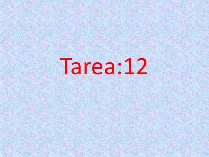 Tarea:12
