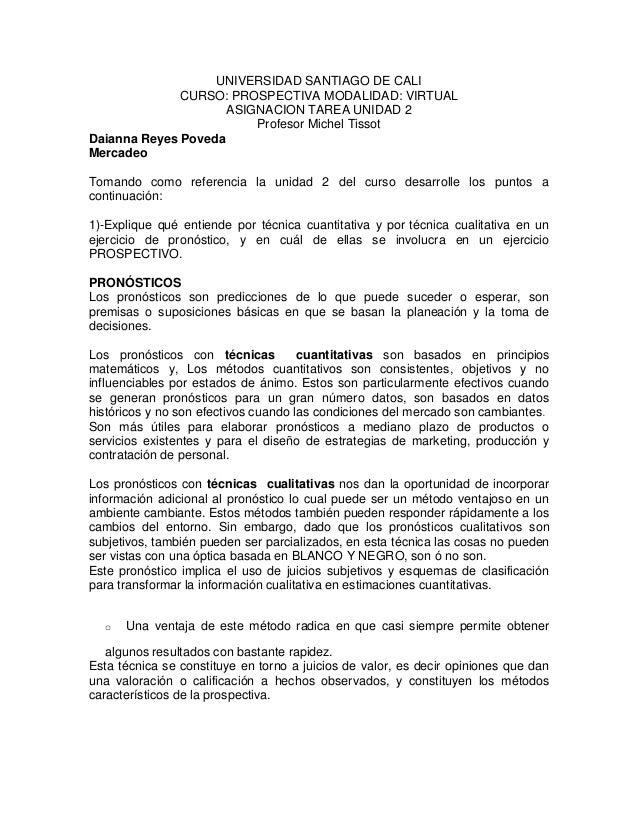 UNIVERSIDAD SANTIAGO DE CALI              CURSO: PROSPECTIVA MODALIDAD: VIRTUAL                     ASIGNACION TAREA UNIDA...