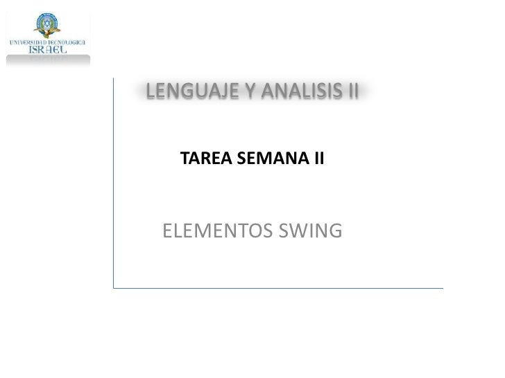 Elementos Swing
