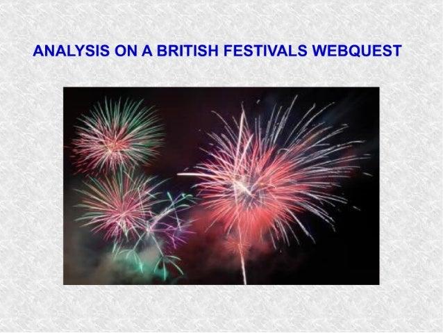 ANALYSIS ON A BRITISH FESTIVALS WEBQUEST