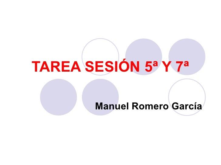Tarea sesión 5ª y 7ª