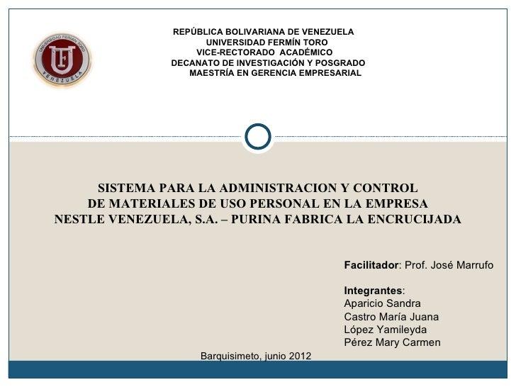 REPÚBLICA BOLIVARIANA DE VENEZUELA                     UNIVERSIDAD FERMÍN TORO                   VICE-RECTORADO ACADÉMICO ...