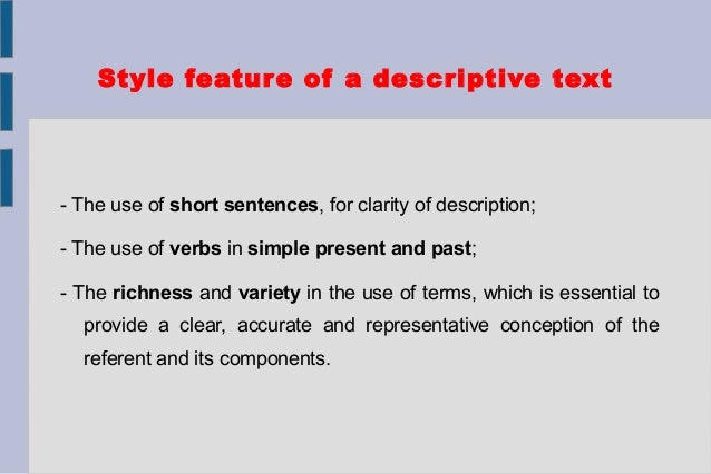 Descriptive text structure and examples for Define treacherous