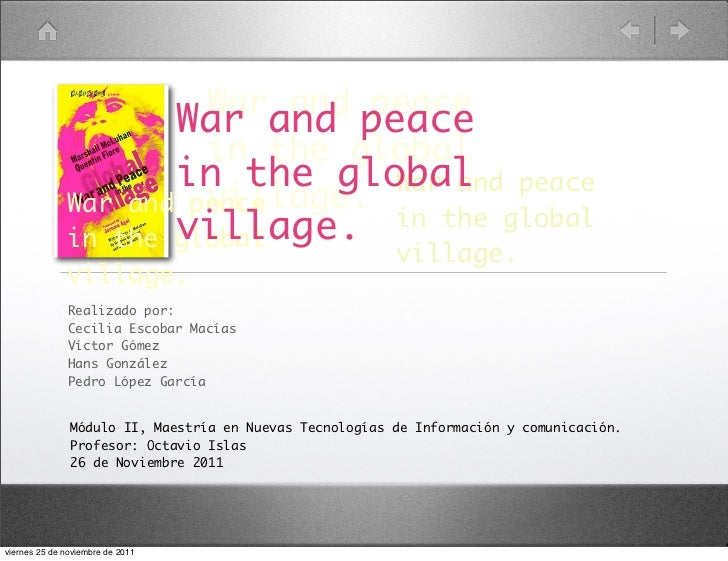 War and peace                                War and peace                                  in the global                 ...