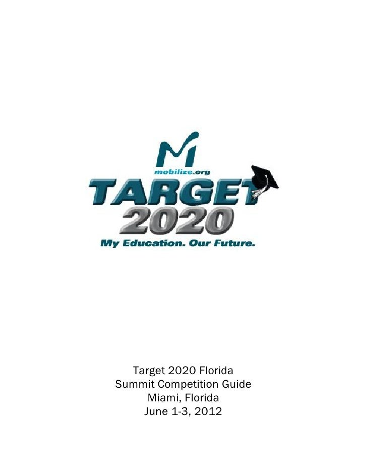 Target 2020 Florida Summit Award Competition Guide