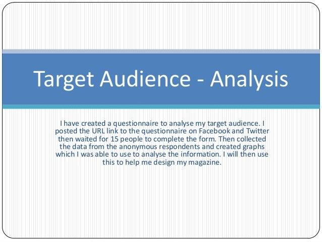 audience analysis example