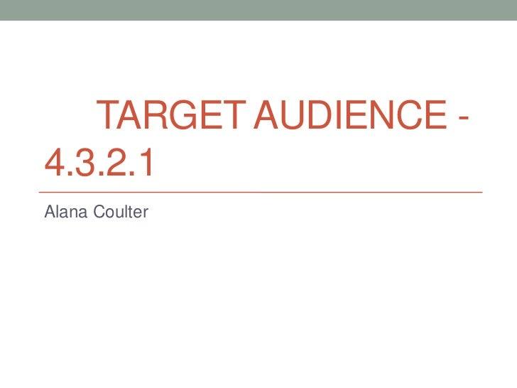 Target audience 4.3.2.1