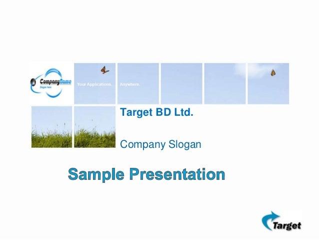Target bd investor presentation sample