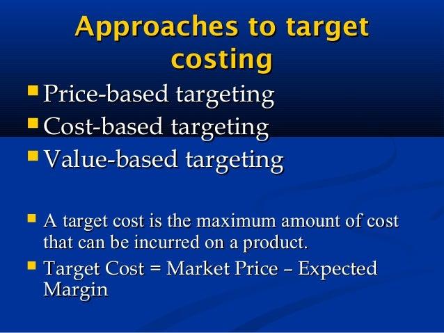 based target costing