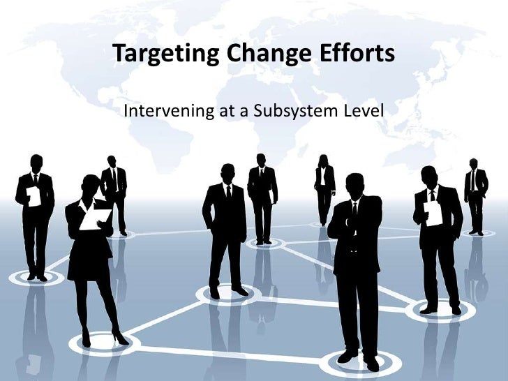 Targeting Change EffortsIntervening at a Subsystem Level