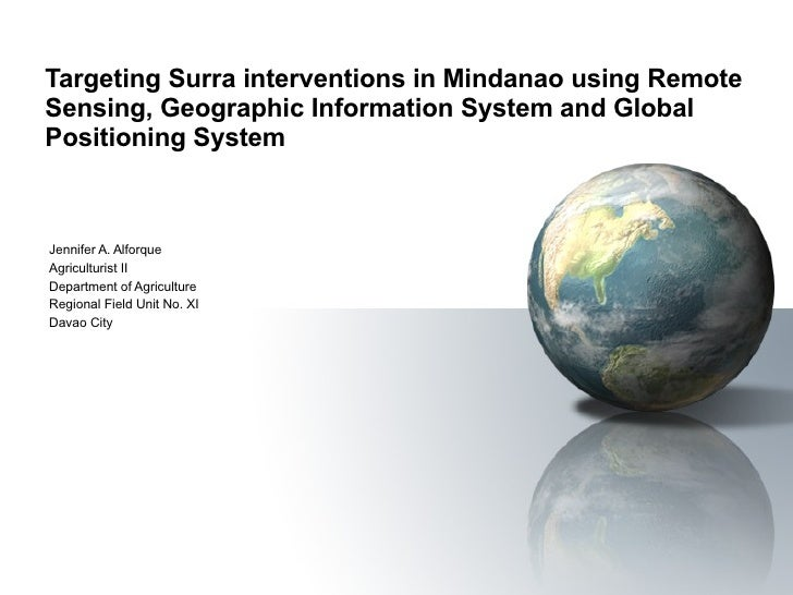 Targeting Surra interventions in Mindanao using Remote Sensing, Geographic Information System and Global Positioning Syste...