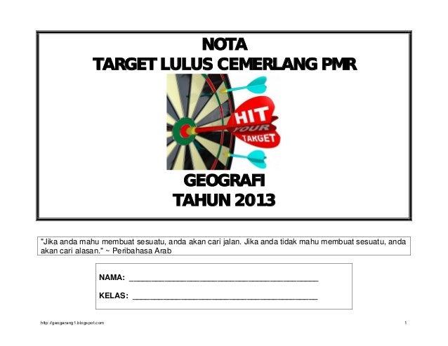 Target lulus pmr 2013
