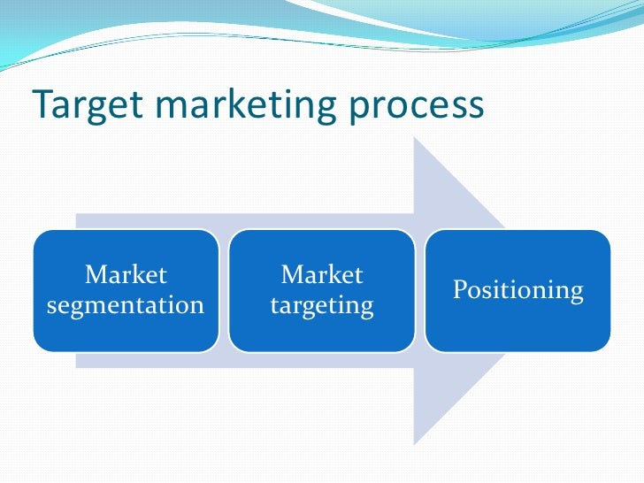 marketing report target market A worked example of how to evaluate and select a target market.