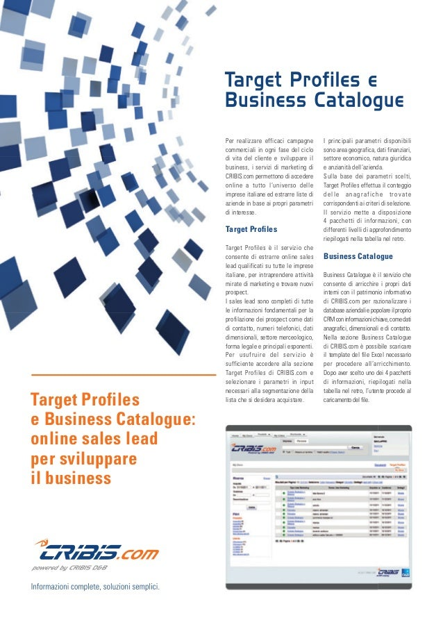 Per realizzare efficaci campagne commerciali in ogni fase del ciclo di vita del cliente e sviluppare il business, i serviz...