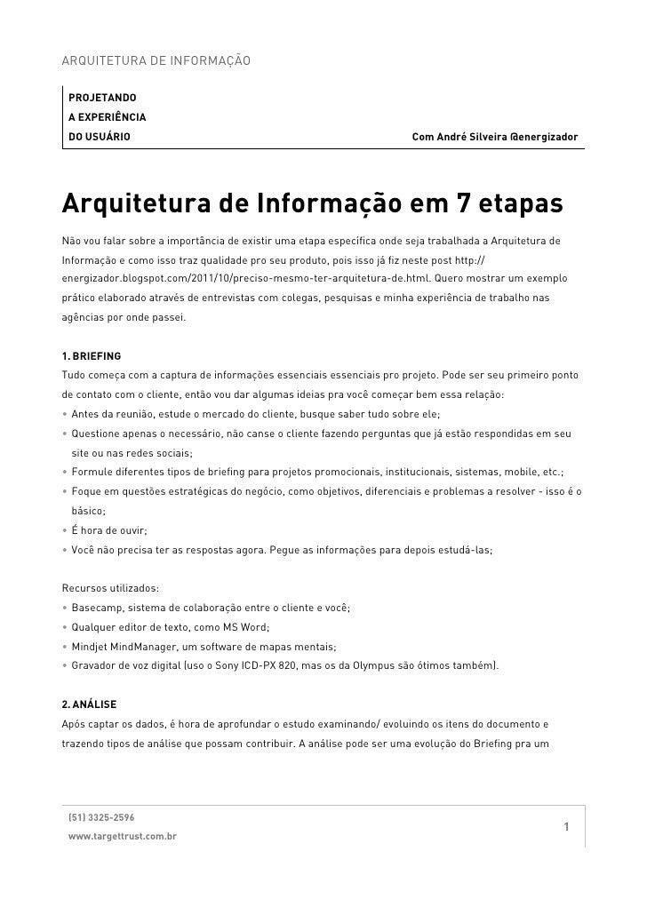 Arquitetura de Informação em 7 etapas