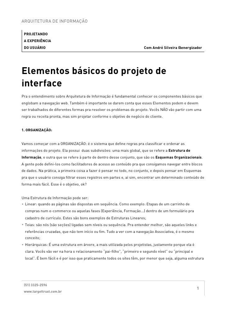 ARQUITETURA DE INFORMAÇÃO PROJETANDO A EXPERIÊNCIA DO USUÁRIO                                                             ...