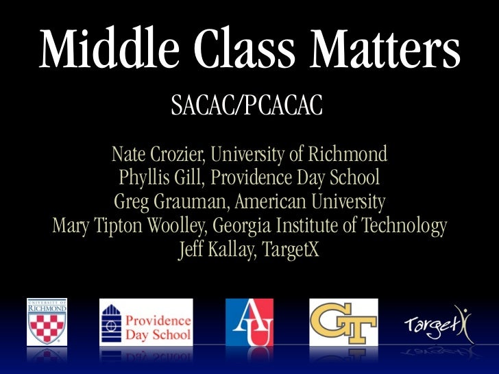 Middle Class Matters               SACAC/PCACAC       Nate Crozier, University of Richmond        Phyllis Gill, Providence...
