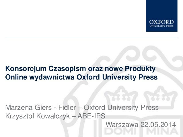 Oxford University Press | Prezenacja WTK 2014