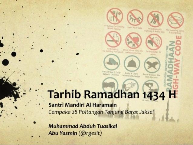 Tarhib ramadhan @rgesit