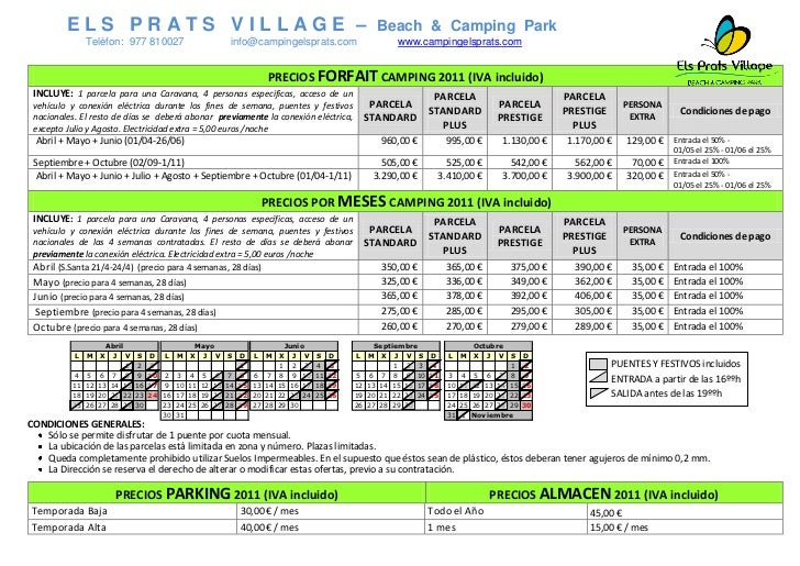 ELS PRATS VILLAGE –                                                                                         Beach & Campin...