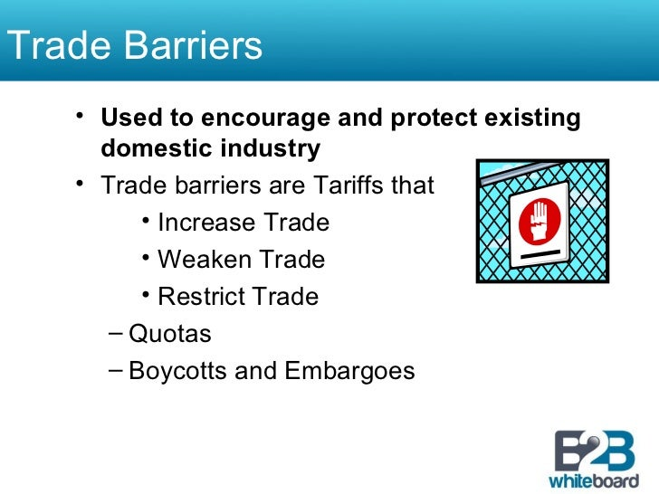 trade barriers and restrictions in malaysia Arguments why nations impose trade restrictions 1 task 6 discuss any arguments why nations impose trade restrictions if free trade is the best policy.
