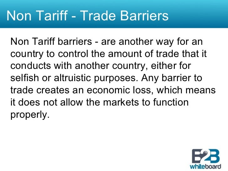 the impact of non tariff measures on international trade This paper reviews existing studies in non-tariff measures for better  understanding of ntm implications to international trade as well as local  business and to.