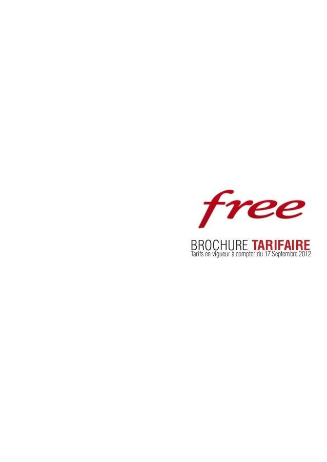 BROCHURE TARIFAIRETarifs en vigueur à compter du 17 Septembre 2012