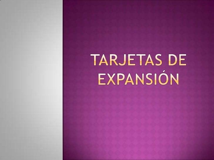 Tarjeta de expansión-ADY CHEPE RAMOS