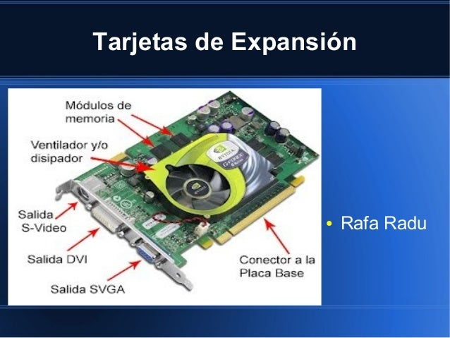 Tipos Tarjetas de Expansion Tarjetas de Expansión