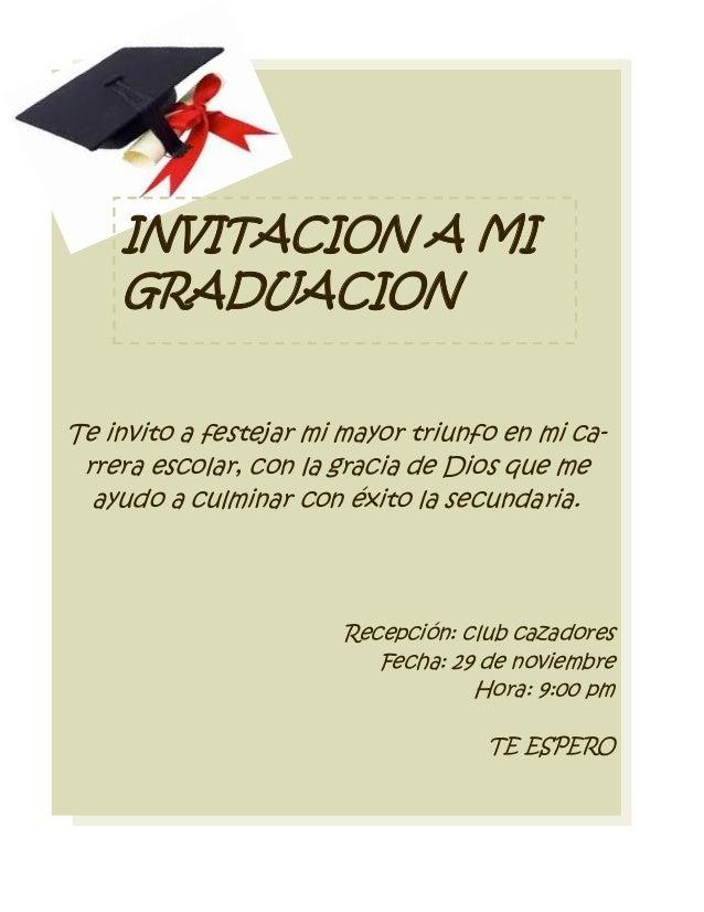 Invitacion De Graduacion En Espanol