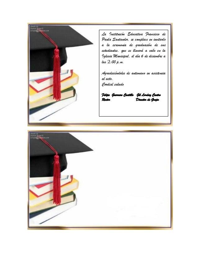 Como Hacer Una Tarjeta De Invitacion Para Graduacion
