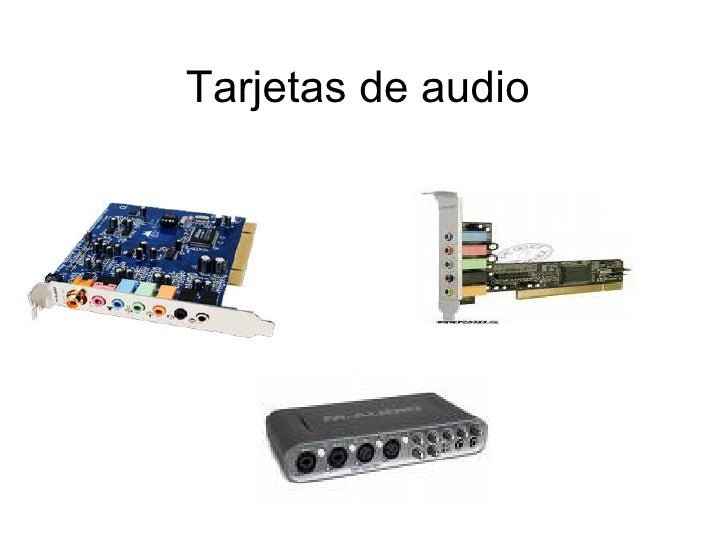 Tarjetas de audio