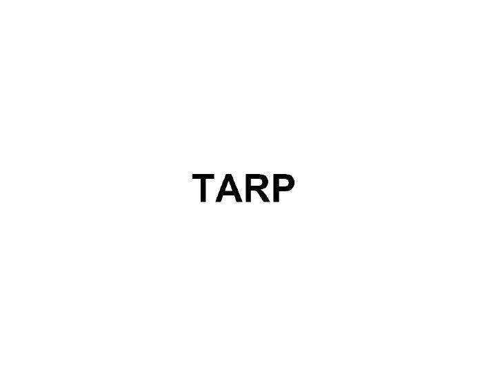 Tarp Ppt