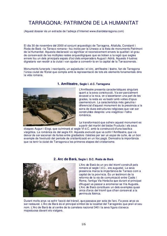 Tarragona patrimoni de la humanitat