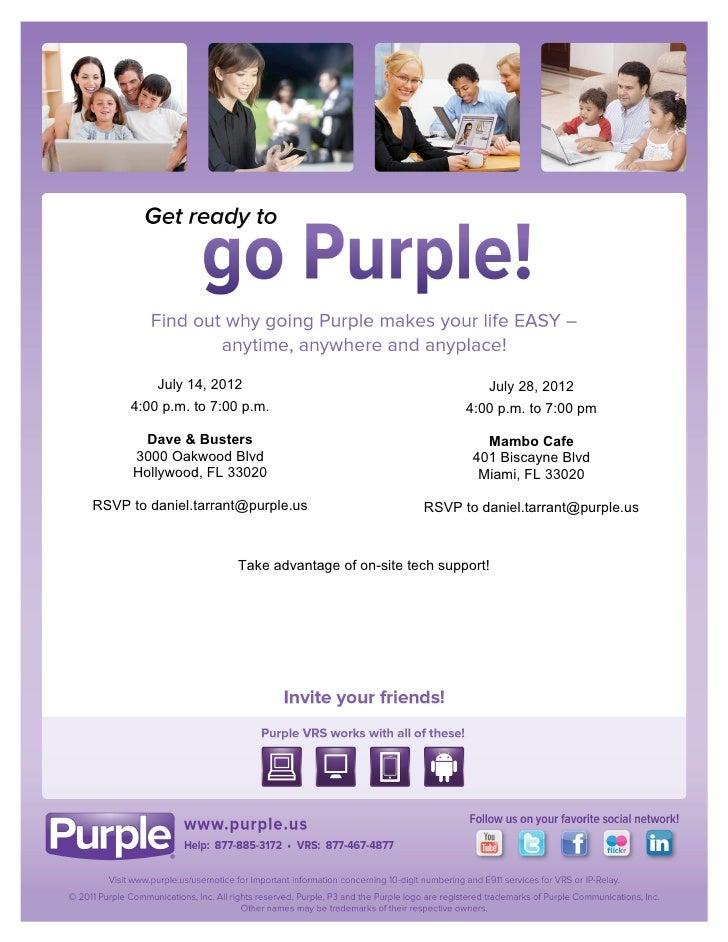 Hollywood & Miami, FL - Get Ready to Go Purple!